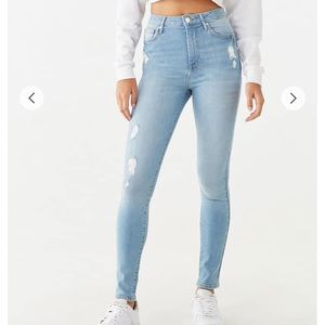 Forever 21 Fairfax Super a Skinny Distressed Jeans